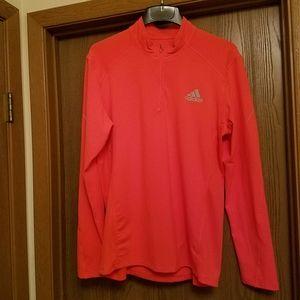 Adidas orange 1/4 zip climacool pullover